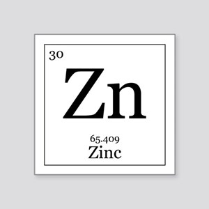 Periodic table zinc stickers cafepress elements 30 zinc square sticker 3 urtaz Choice Image