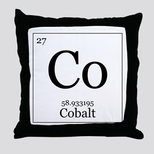 Elements - 27 Cobalt Throw Pillow
