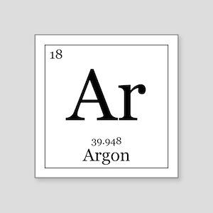 "Elements - 18 Argon Square Sticker 3"" x 3"""
