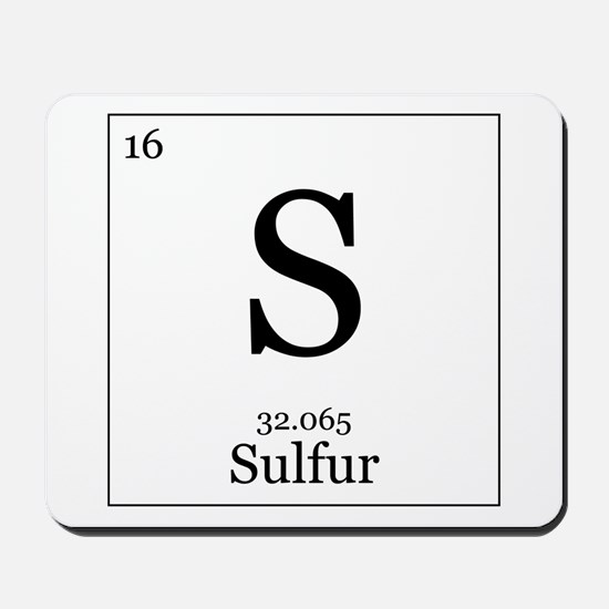 Elements - 16 Sulfur Mousepad