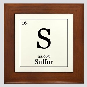 Elements - 16 Sulfur Framed Tile