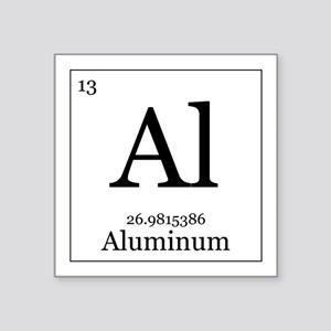 "Elements - 13 Aluminum Square Sticker 3"" x 3"""