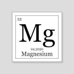 Periodic table magnesium stickers cafepress elements 12 magnesium square sticker 3 urtaz Images