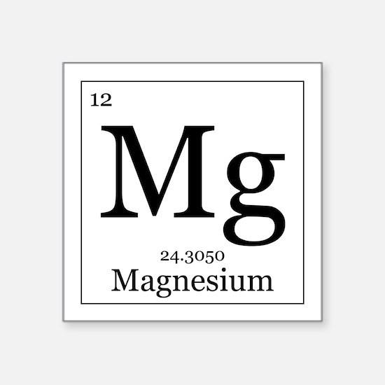 """Elements - 12 Magnesium Square Sticker 3"""" x 3"""""""