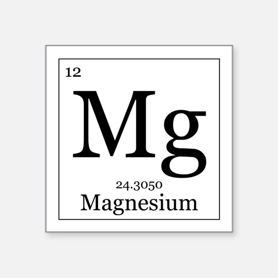 Periodic table magnesium hobbies gift ideas periodic table elements 12 magnesium square sticker 3 urtaz