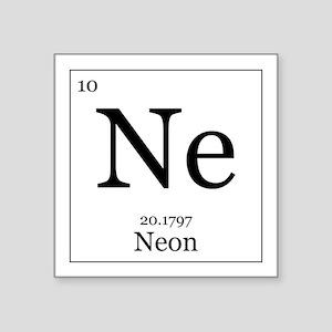 """Elements - 10 Neon Square Sticker 3"""" x 3"""""""