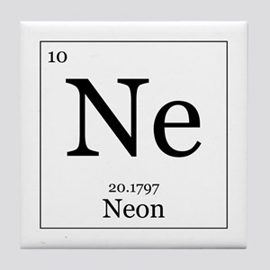 elements 10 neon tile coaster - Periodic Table Neon