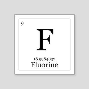 Periodic table fluorine stickers cafepress elements 9 fluorine square sticker 3 urtaz Images