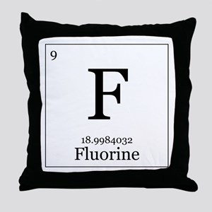Elements - 9 Fluorine Throw Pillow