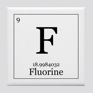 Periodic table fluorine coasters cafepress elements 9 fluorine tile coaster urtaz Images