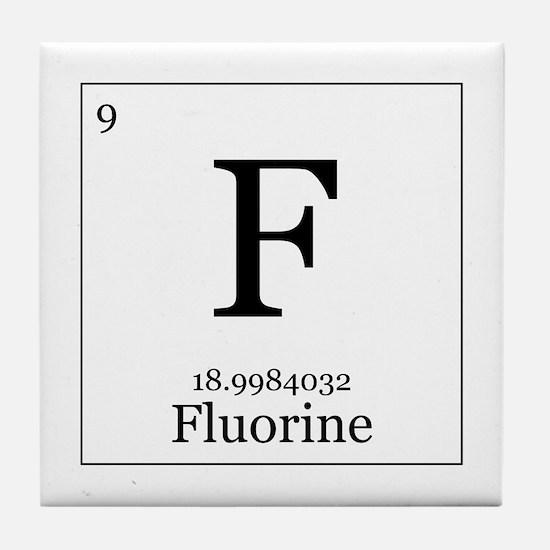 Elements - 9 Fluorine Tile Coaster