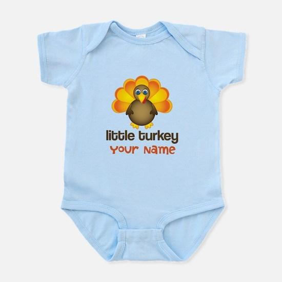 Personalized Little Turkey Infant Bodysuit