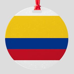 Colombia Round Ornament