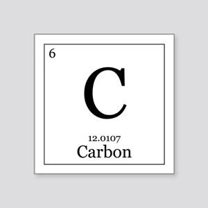 Periodic table carbon stickers cafepress elements 6 carbon square sticker 3 urtaz Gallery