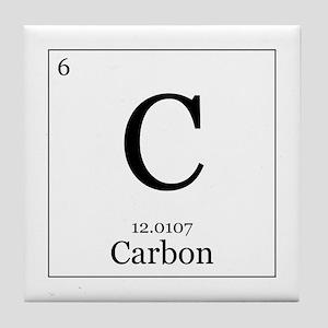 Periodic table carbon coasters cafepress elements 6 carbon tile coaster urtaz Gallery