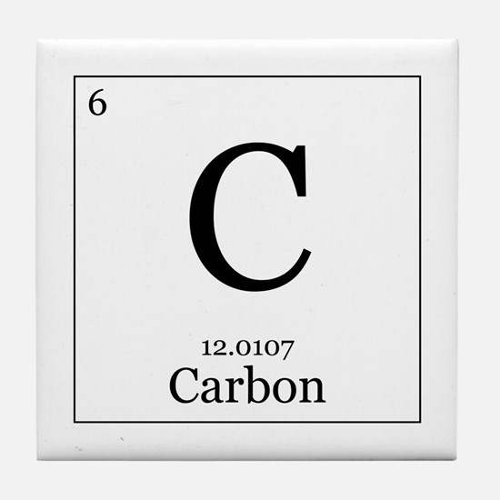 Periodic table carbon coasters cork puzzle tile coasters elements 6 carbon tile coaster urtaz Image collections