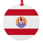 French Polynesia Round Ornament