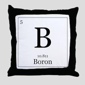 Elements - 5 Boron Throw Pillow
