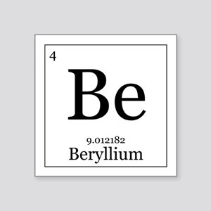 Periodic table beryllium stickers cafepress elements 4 beryllium square sticker 3 urtaz