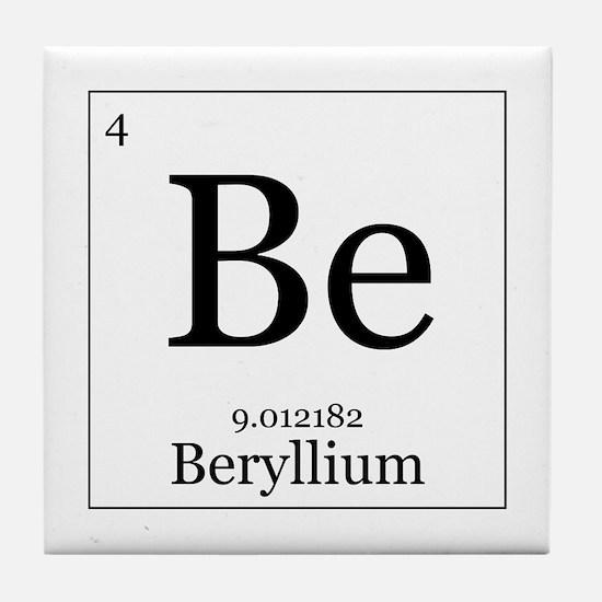 Periodic table beryllium coasters cork puzzle tile coasters elements 4 beryllium tile coaster urtaz Gallery