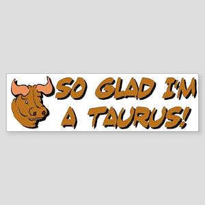 """""""Taurus The Bull"""" Bumper Sticker"""