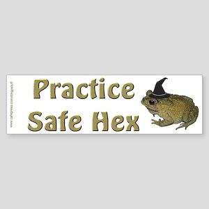 """Safe Hex"" Bumper Sticker"