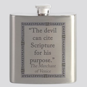 The Devil Can Cite Scripture Flask