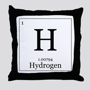 Elements - 1 Hydrogen Throw Pillow
