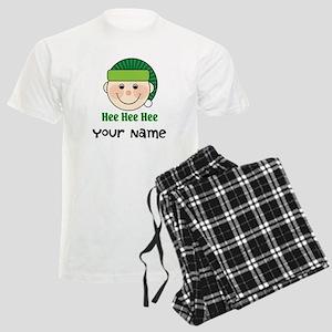 Personalized Christmas Elf Men's Light Pajamas