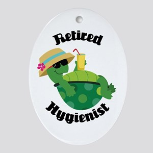 Retired Hygienist Gift Ornament (Oval)