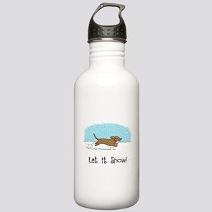 Dachshund Let it Snow Stainless Water Bottle 1.0L