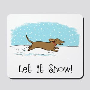 Dachshund Let it Snow Mousepad