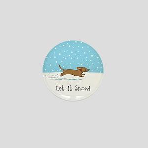 Dachshund Let it Snow Mini Button
