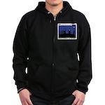 Restroom Role Reversal Zip Hoodie (dark)