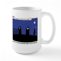 Restroom Role Reversal Large Mug