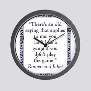 Theres An Old Saying That Applies Wall Clock