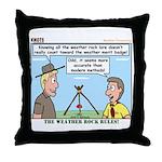 Weather Rock Throw Pillow