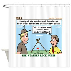 Weather Rock Shower Curtain