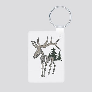 Elk bones Aluminum Photo Keychain