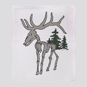 Elk bones Throw Blanket