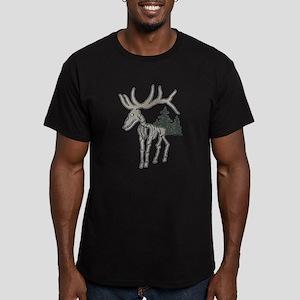 Elk bones Men's Fitted T-Shirt (dark)
