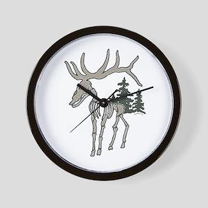 Elk bones Wall Clock