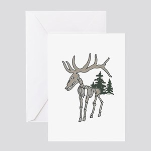 Elk bones Greeting Card