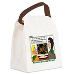 Plumbing Screensaver Canvas Lunch Bag