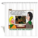 Plumbing Screensaver Shower Curtain