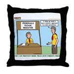Crime Prevention Throw Pillow