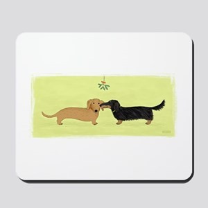 Dachshund Christmas Kiss Mousepad