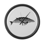 Gray Whale Large Wall Clock