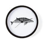 Gray Whale Wall Clock