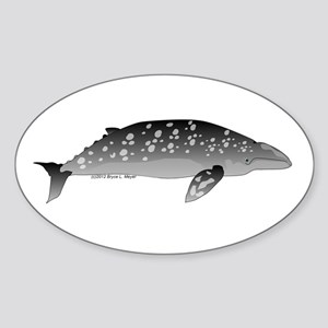 Gray Whale Sticker (Oval)